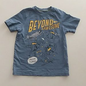 Carter's 4/5 blue dinosaurs in space t shirt